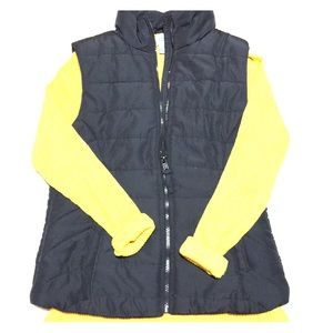 Aeropostale black quilted puff vest